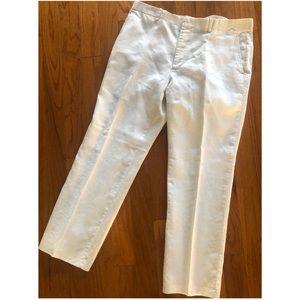 Men White INC linen pants size 36 waist, 30 length